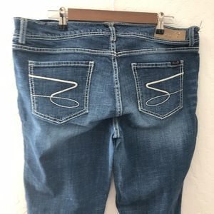 Seven7 Flare Medium Dark Denim Jeans Size 16